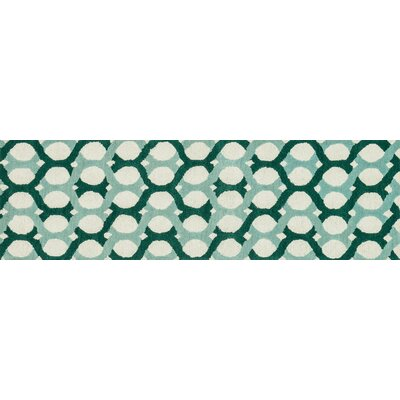 Weston Hand-Tufted Blue/Green Area Rug Rug Size: Runner 23 x 76