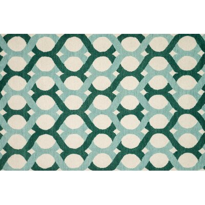 Maziarz Hand-Tufted Blue/Green Area Rug Rug Size: Rectangle 5 x 76