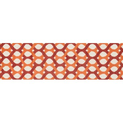 Weston Hand-Tufted Red/Orange Area Rug Rug Size: 36 x 56