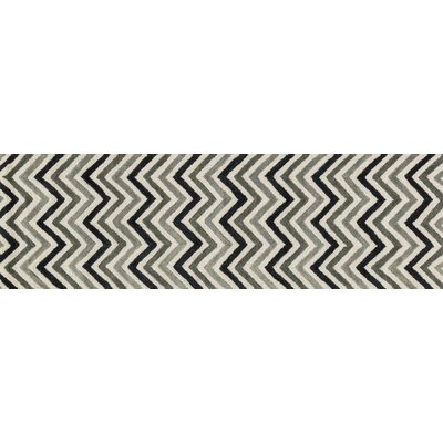 Maziarz Hand-Tufted Gray Area Rug Rug Size: Runner 23 x 76