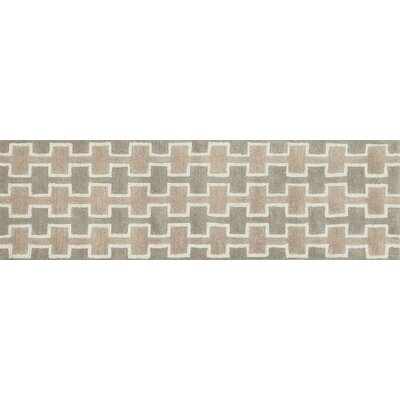 Weston Hand-Tufted Brown Area Rug Rug Size: Runner 23 x 76