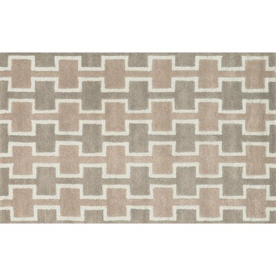 Maziarz Hand-Tufted Brown Area Rug Rug Size: Rectangle 36 x 56