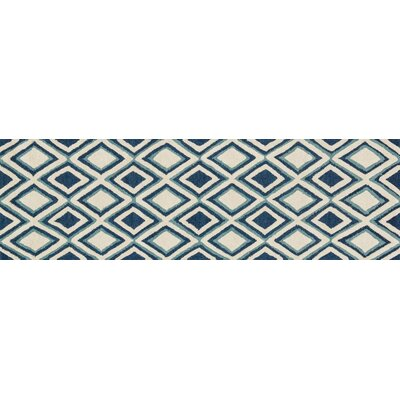 Weston Hand-Tufted Blue/Beige Area Rug Rug Size: 23 x 39