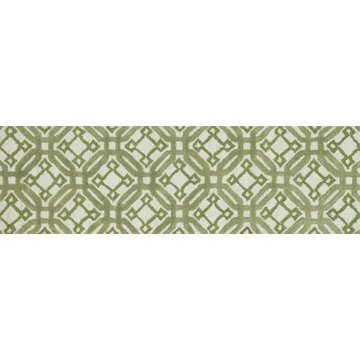 Weston Hand-Tufted Ivory/Green Area Rug Rug Size: Runner 23 x 76