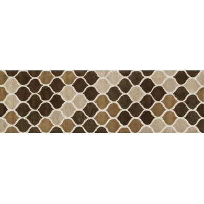 Weston Graphic Hand-Tufted Beige/Brown Area Rug Rug Size: Runner 23 x 76