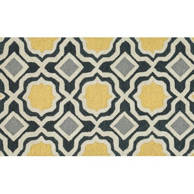 Weston Hand-Tufted Charcoal/Gold Area Rug Rug Size: 36 x 56