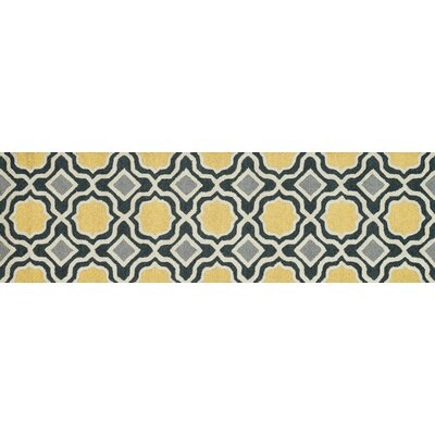 Weston Hand-Tufted Charcoal/Gold Area Rug Rug Size: Runner 23 x 76