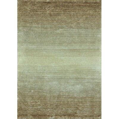 Jasper Shag Hand Tufted Brown/Sand Area Rug Rug Size: 36 x 56