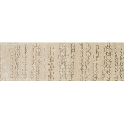 Journey Beige Area Rug Rug Size: Runner 24 x 79