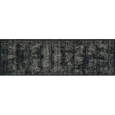 Durdham Park Black/Charcoal Area Rug Rug Size: Runner 24 x 79