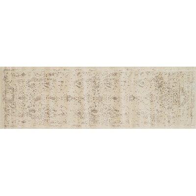 Durdham Park Ivory/Mocha Area Rug Rug Size: Runner 24 x 79