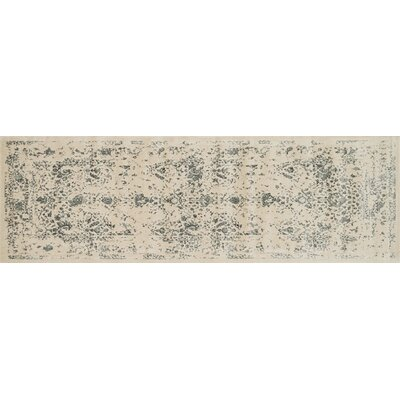 Journey Ivory/Slate Area Rug Rug Size: Runner 24 x 79