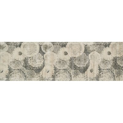 Journey Ivory/Smoke Area Rug Rug Size: Runner 24 x 79