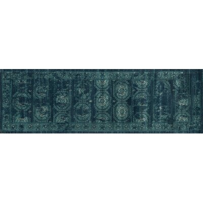 Journey Navy/Blue Area Rug Rug Size: Runner 24 x 79