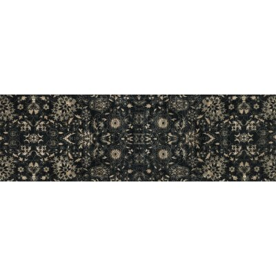 Journey Black/Silver Area Rug Rug Size: Runner 24 x 79