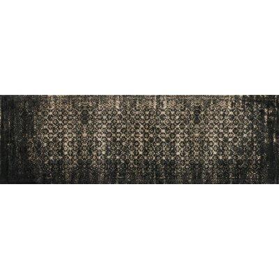 Journey Black/Tan Area Rug Rug Size: Runner 24 x 79