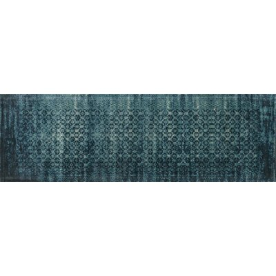 Journey Indigo Blue Area Rug Rug Size: 76 x 105