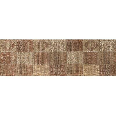 Keever Cinnamon/Beige Area Rug Rug Size: Runner 24 x 79