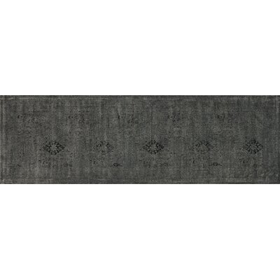 Nyla Iron Black Area Rug Rug Size: Runner 24 x 79