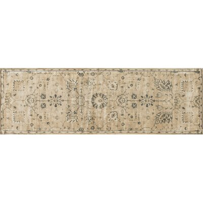 Keever Sand/Charcoal Area Rug Rug Size: Runner 24 x 79
