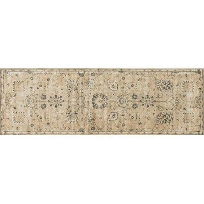 Nyla Sand/Charcoal Area Rug Rug Size: Runner 24 x 79
