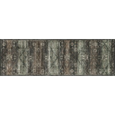 Keever Charcoal Area Rug Rug Size: Runner 24 x 79