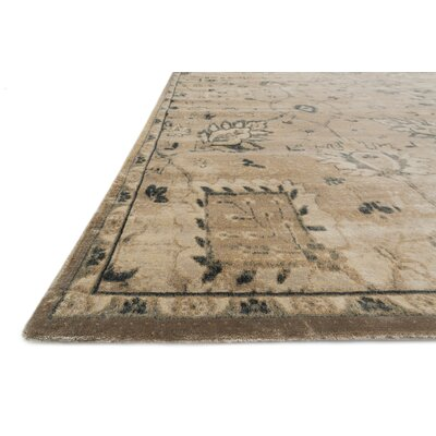 Nyla Sand/Charcoal Area Rug Rug Size: Rectangle 33 x 53