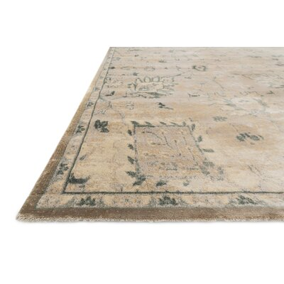 Keever Stone/Blue Area Rug Rug Size: Rectangle 33 x 53