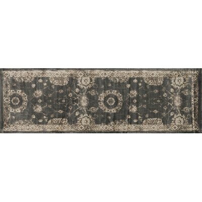 Keever Charcoal/Beige Area Rug Rug Size: Runner 24 x 79