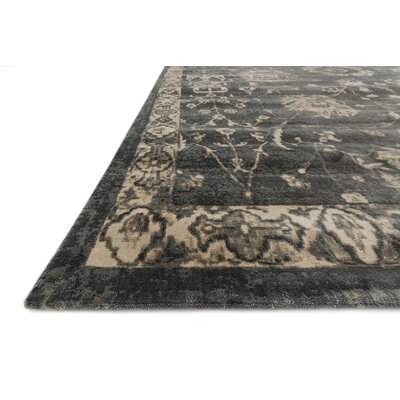 Keever Charcoal/Beige Area Rug Rug Size: Rectangle 33 x 53