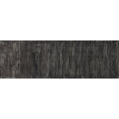 Keever Iron Gray Area Rug Rug Size: Runner 24 x 79