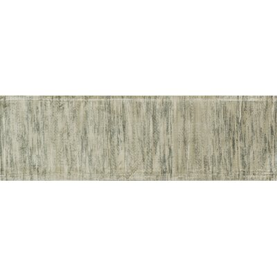Keever Seafoam Gray Area Rug Rug Size: Runner 24 x 79