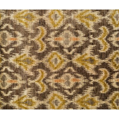 Xavier Hand-Knotted Brown/Tan Area Rug Rug Size: 56 x 86