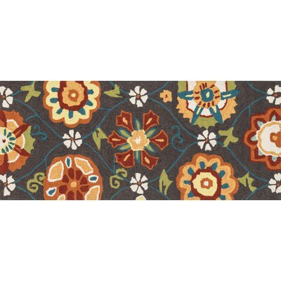 Summerton Hand-Hooked Coffee Spice Area Rug Rug Size: Runner 2 x 5