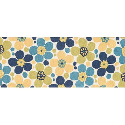 Summerton Hand-Hooked Yellow/Blue Area Rug Rug Size: Runner 2 x 5