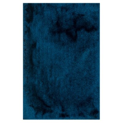 Allure Shag Hand-Tufted Sapphire Area Rug Rug Size: Rectangle 76 x 96