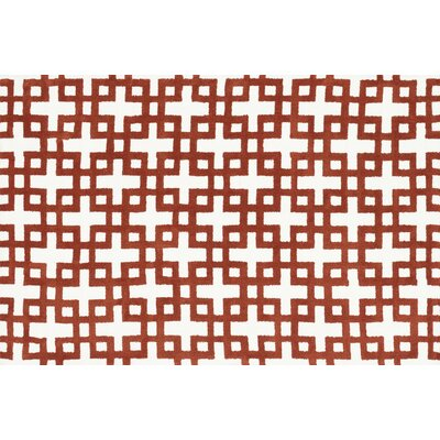 Charlotte Ivory / Rust Rug Rug Size: Rectangle 23 x 39