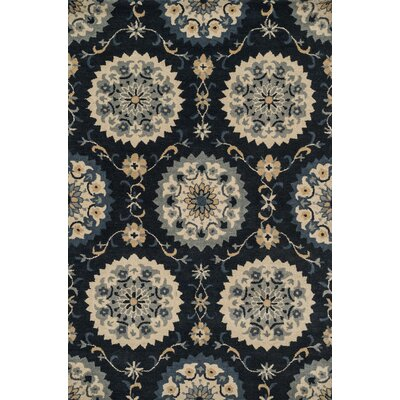 Fairfield Hand-Tufted Navy Area Rug Rug Size: 76 x 96
