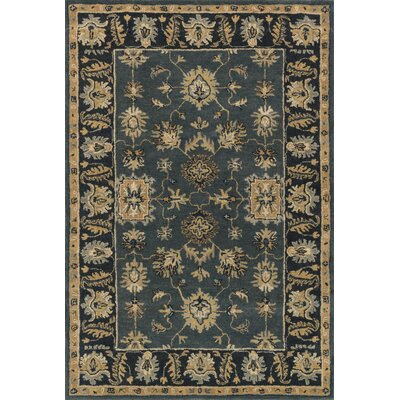 Fairfield Hand-Tufted Blue/Navy Area Rug Rug Size: 76 x 96