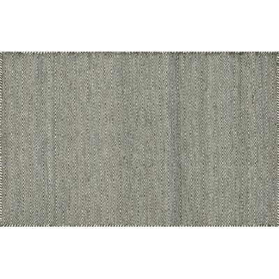 Quays Hand-Woven Gray Area Rug Rug Size: Rectangle 36 x 56