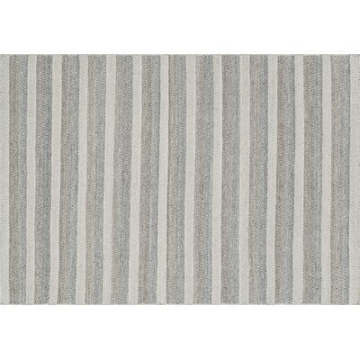 Quays Hand-Woven Gray/Ivory Area Rug Rug Size: Rectangle 36 x 56
