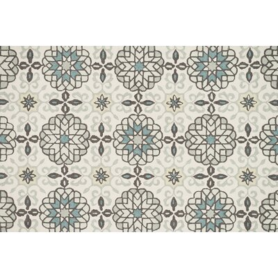 Kips Bay Hand-Hooked Gray/Beige Area Rug Rug Size: Rectangle 23 x 39