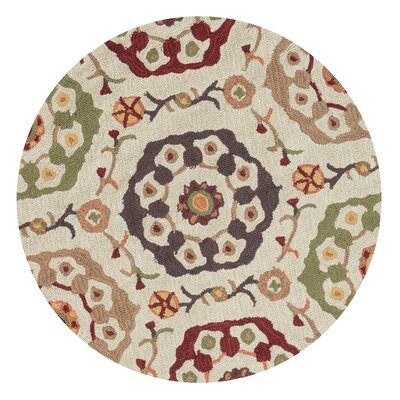 Kips Bay Hand-Hooked Beige Area Rug Rug Size: Rectangle 36 x 56