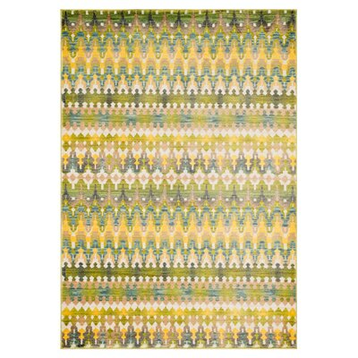 Arabian Nights Green Rug Rug Size: Rectangle 2 x 3