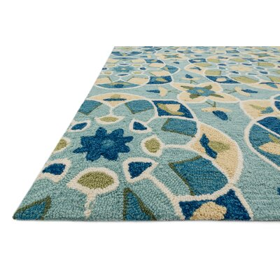 Francesca Hand-Woven Turquoise Area Rug Rug Size: Rectangle 5 x 76