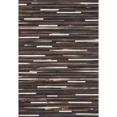 Promenade Brown Area Rug Rug Size: 76 x 96