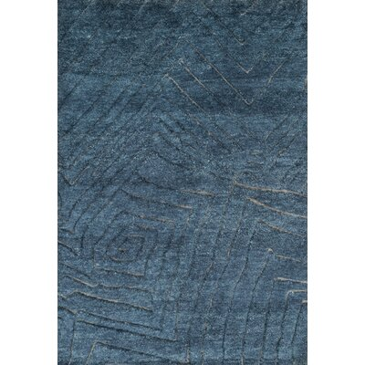 Tanzania Knotted Navy Area Rug Rug Size: Rectangle 4 x 6