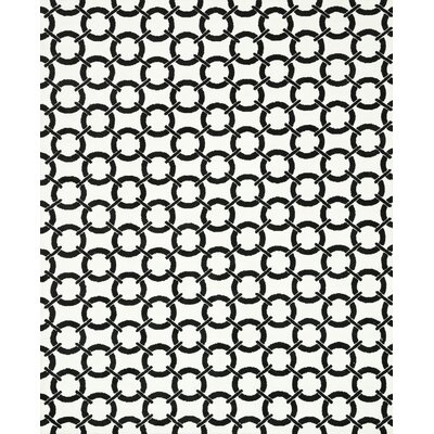 Charlotte Ivory/Onyx Area Rug Rug Size: Rectangle 76 x 96