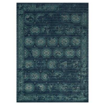 Journey Navy/Blue Area Rug Rug Size: 76 x 105
