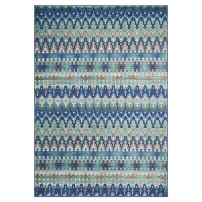 Madeline Blue Area Rug Rug Size: 77 x 105